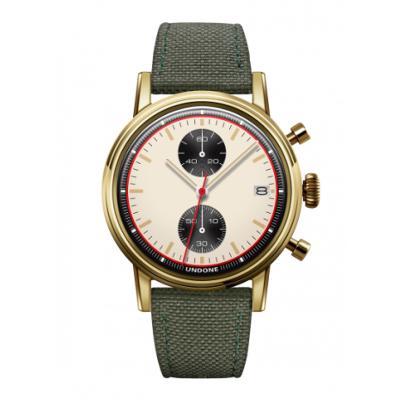 UNDONE URBAN NEWMAN メカクォーツ 腕時計【ゴールドPVDコーティング コーデュラ グリーン】