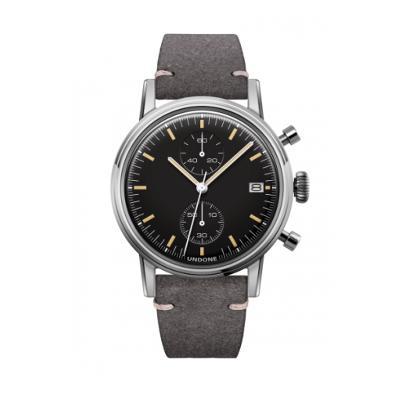 UNDONE URBAN SPEEDY メカクォーツ 腕時計 【 ステンレス カーフレザー グレー】