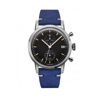 UNDONE URBAN SPEEDY メカクォーツ 腕時計 【 ステンレス カーフレザー ブルー】