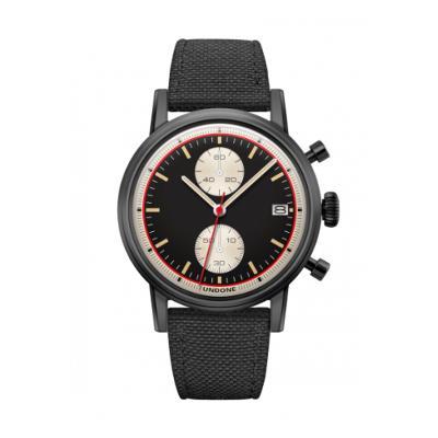 UNDONE URBAN Auta メカクォーツ 腕時計 【ブラック PVD コーティング コーデュラベルト ブラック】