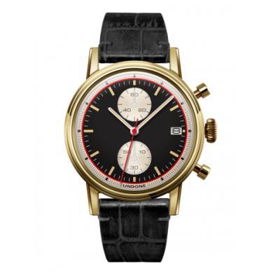 UNDONE URBAN Auta メカクォーツ 腕時計 【ステンレスシルバー アリゲーターレザーベルト ブラック】