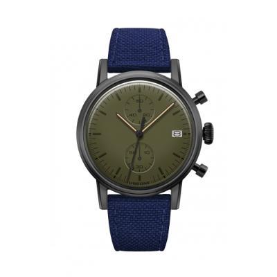 UNDONE MODERN GREEN メカクォーツ腕時計【ブラックPVD コーティング コーデュラベルト ネイビー】