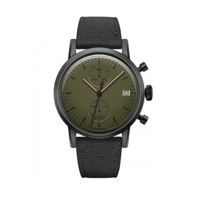 UNDONE MODERN GREEN メカクォーツ腕時計【ブラックPVD コーティング コーデュラベルト ブラック】