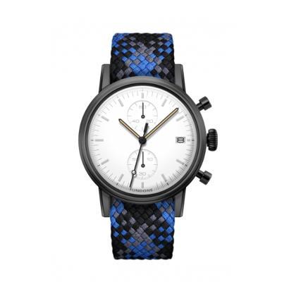 UNDONE MODERN WHITE メカクォーツ腕時計 【ブラックPVD コーティング パーロンベルト ブルー ブラック グレー】