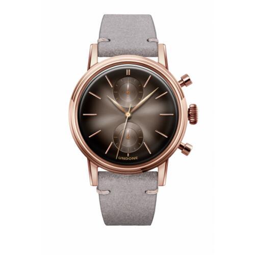UNDONE URBAN MYSTIQUE ECLIPSE メカクォーツ 腕時計 【カーフベルト ライトグレー】