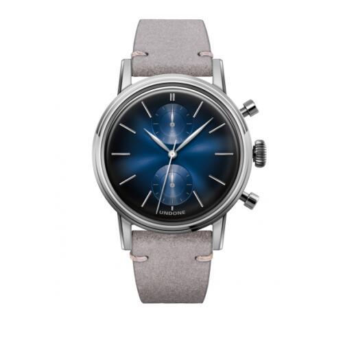 UNDONE URBAN MYSTIQUE MERCURY メカクォーツ 腕時計 【シルバーフレーム カーフレザーベルト ライトグレー】
