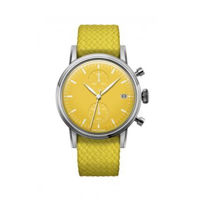 UNDONE MODERN YELLOW メカクォーツ腕時計 【パーロンベルト ステンレスシルバー ケース】