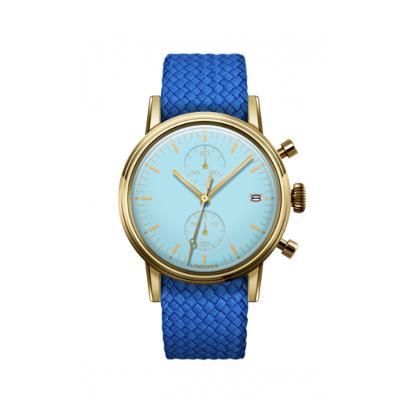 UNDONE MODERN pastel blue メカクォーツ腕時計 【パーロンベルト ゴールド ケース】