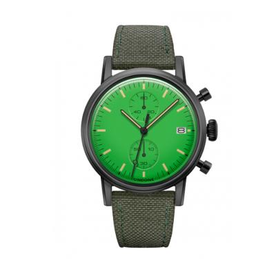 UNDONE MODERN グリーン メカクォーツ腕時計 【ブラックPVDコーティング コーデュラベルト アーミーグリーン】