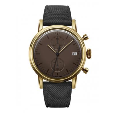 UNDONE MODERN soil メカクォーツ 腕時計 【ゴールドケース コーデュラベルト ブラック】