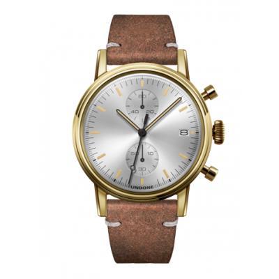 UNDONE URBAN CLASSIC Silver sunray 腕時計 メカクォーツ 【ゴールドケース カーフレザーベルト ヴィンテージブラウン】