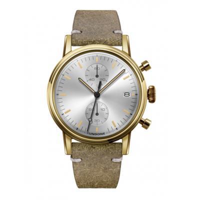 UNDONE URBAN CLASSIC Silver sunray 腕時計 メカクォーツ 【ゴールドケース カーフレザーベルト ヴィンテージグリーン】