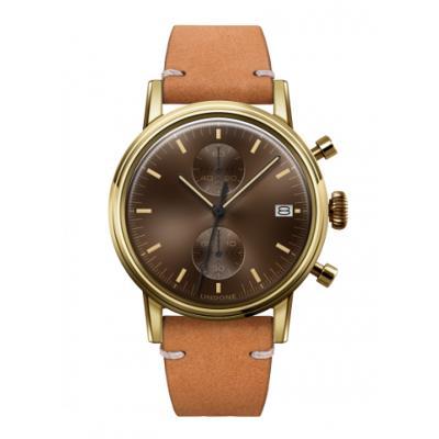 UNDONE URBAN CLASSIC Brown sunray 腕時計 メカクォーツ 【ゴールドケース カーフレザーベルト サンド】