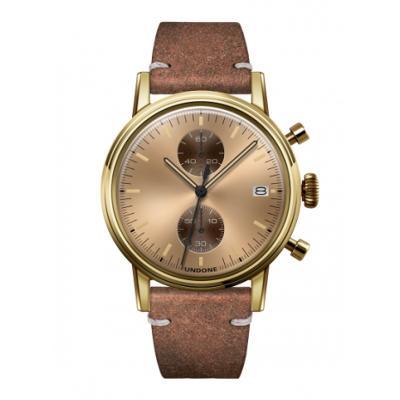 UNDONE URBAN CLASSIC Gold sunray 腕時計 メカクォーツ 【ゴールドケース カーフレザーベルト ヴィンテージブラウン】