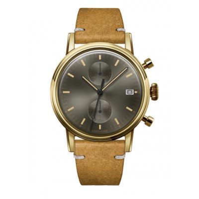 UNDONE URBAN CLASSIC Grey sunray 腕時計 メカクォーツ 【ゴールドケース カーフレザーベルト ヴィンテージイエロー】