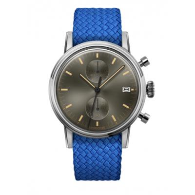 UNDONE URBAN CLASSIC Grey sunray 腕時計 メカクォーツ 【ステンレスケース パーロンベルト ブルー】