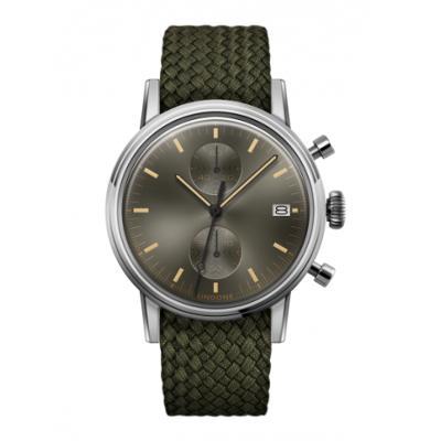 UNDONE URBAN CLASSIC Grey sunray 腕時計 メカクォーツ 【ステンレスケース パーロンベルト オリーブグリーン】