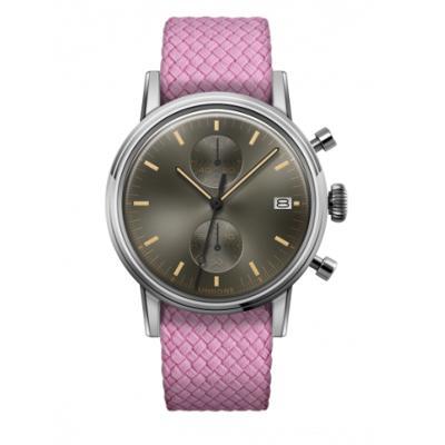 UNDONE URBAN CLASSIC Grey sunray 腕時計 メカクォーツ 【ステンレスケース パーロンベルト ピンク】