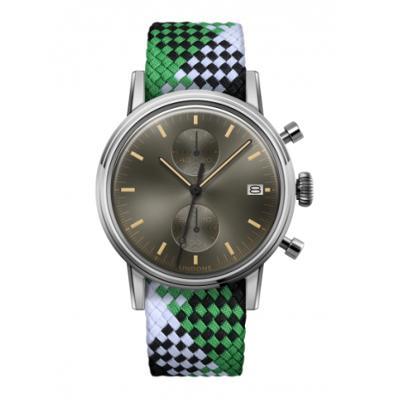 UNDONE URBAN CLASSIC Grey sunray 腕時計 メカクォーツ 【ステンレスケース パーロンベルト グリーンブラックホワイト】