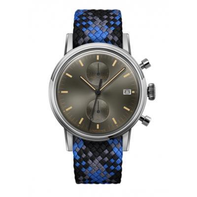 UNDONE URBAN CLASSIC Grey sunray 腕時計 メカクォーツ 【ステンレスケース パーロンベルト ブルーブラックグレー】