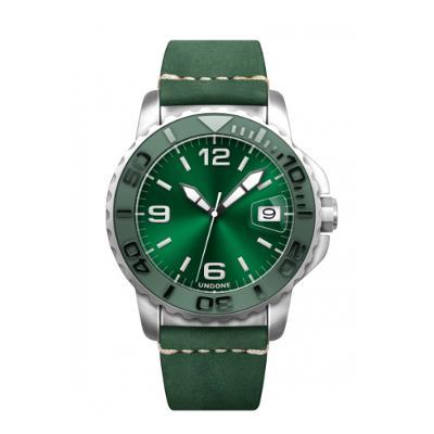 UNDONE AQUA STANDARD 腕時計【自動巻機械式 アクアステンレス シルバーケース セラミック グリーン スエード グリーンベルト】