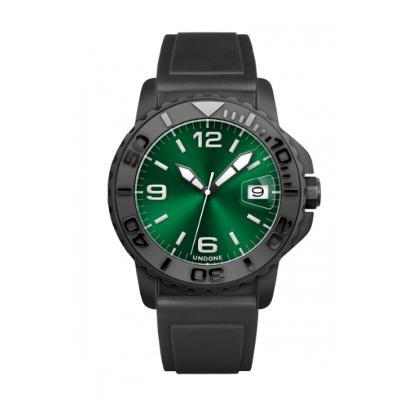 UNDONE AQUA STANDARD 腕時計 サンレイグリーン【自動巻機械式 アクア ブラックケース セラミック 黒 ラバーベルト】