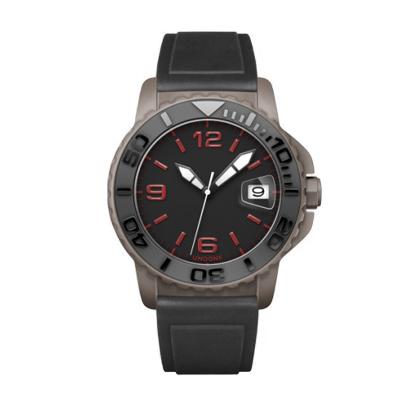 UNDONE AQUA CERAKOTE 腕時計【自動巻機械式 セラコーテ グレー セラミック ブラック ラバーブラック】