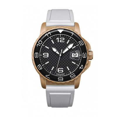 UNDONE AQUA CERAKOTE 腕時計【自動巻機械式 セラコーテ サンド K1強化鉱物ガラス 12進数 ラバーベルト ホワイト】