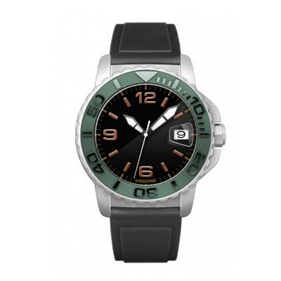 UNDONE AQUA CERAKOTE 腕時計【自動巻機械式 セラコーテ ホワイト セラミック グリーン ラバーベルト】