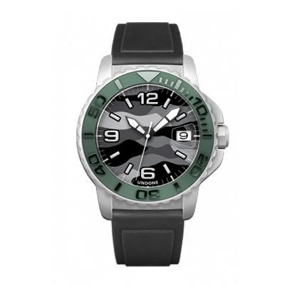 UNDONE AQUA CERAKOTE 腕時計【自動巻機械式 セラコーテ ホワイトケース セラミック グリーン ラバー ブラック】