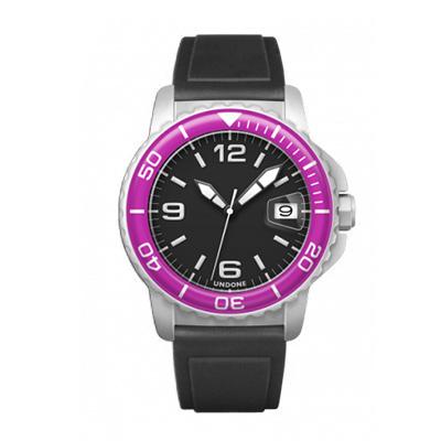 UNDONE AQUA CERAKOTE 腕時計【自動巻機械式 セラコーテ ホワイトケース 強化鉱物ガラス パープル ラバーバンド】