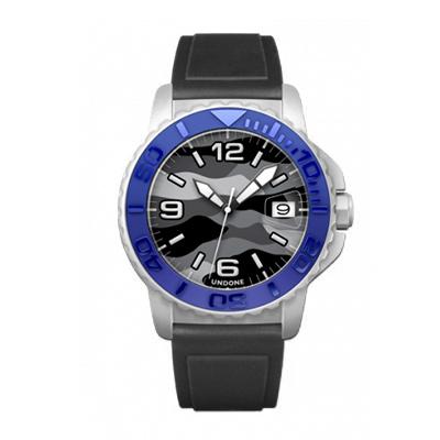 UNDONE AQUA CERAKOTE 腕時計 迷彩【自動巻機械式 セラコーテ ホワイトケース セラミック ブルー ラバーベルト】