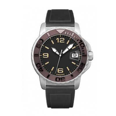 UNDONE AQUA CERAKOTE 腕時計【自動巻機械式 セラコーテ ホワイト セラミック ブラウン ラバーベルト】