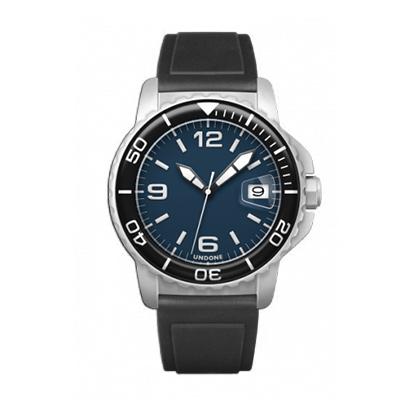 UNDONE AQUA CERAKOTE 腕時計 ネイビー【自動巻機械式 セラコーテ ホワイト K1強化鉱物ガラス ブラック ラバーベルト】