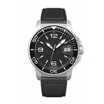UNDONE AQUA CERAKOTE 腕時計【自動巻機械式 セラコーテ ホワイト K1強化鉱物ガラス ブラック ラバーベルト】