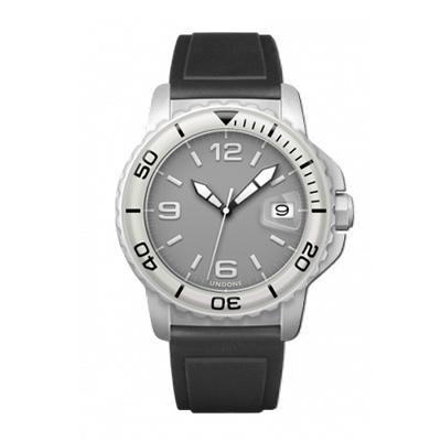 UNDONE AQUA CERAKOTE 腕時計【自動巻機械式 セラコーテ ホワイト K1強化鉱物ガラス ホワイト ラバーベルト】