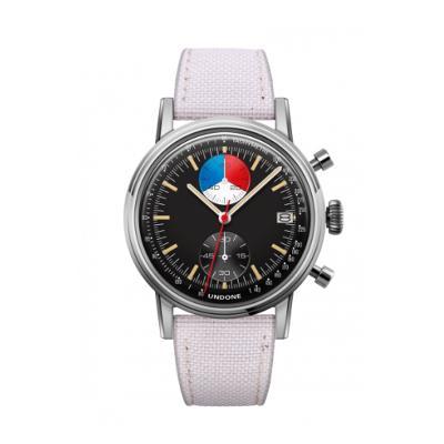 UNDONE URBAN Skipper メカクォーツ 腕時計 【 ステンレス シルバー コーデュラ オフホワイト】
