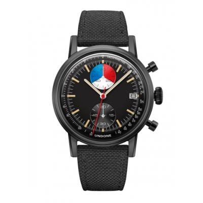 UNDONE URBAN Skipper メカクォーツ 腕時計 【 ブラック PVDコーティング コーデュラベルト  ブラック】