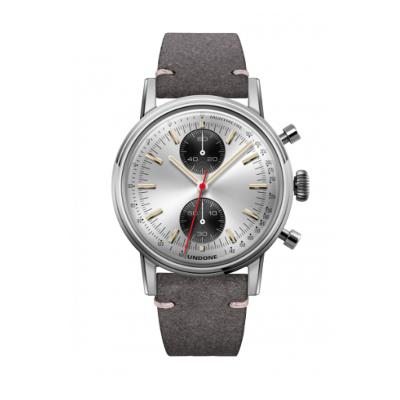 UNDONE URBAN SPEEDY Panda Silver メカクォーツ 腕時計 【 ステンレス カーフレザー グレー】