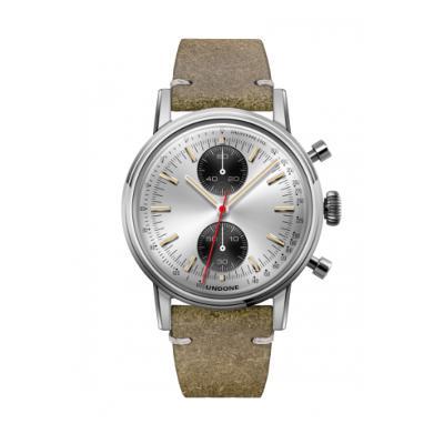 UNDONE URBAN SPEEDY Panda Silver メカクォーツ 腕時計 【 ステンレス カーフレザー ヴィンテージグリーン】