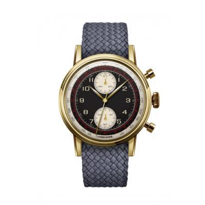 UNDONE URBAN NAVI 2.0 腕時計 【ゴールド PVD コーティング パーロンベルト グレー】