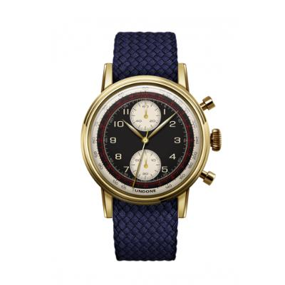 UNDONE URBAN NAVI 2.0 腕時計 【ゴールド PVD コーティング パーロンベルト ネイビー】