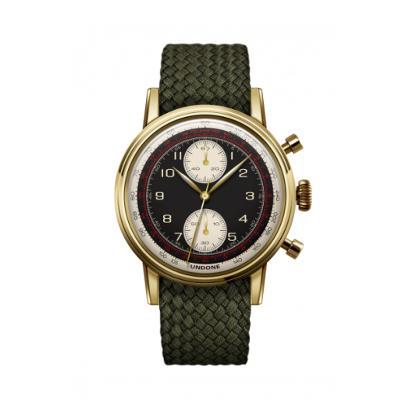 UNDONE URBAN NAVI 2.0 腕時計 【ゴールド PVD コーティング パーロンベルト オリーブグリーン】