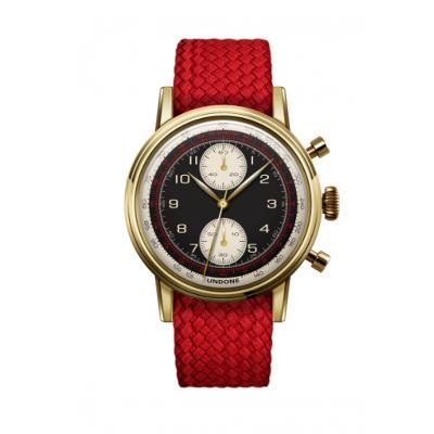UNDONE URBAN NAVI 2.0 腕時計 【ゴールド PVD コーティング パーロンベルト レッド】