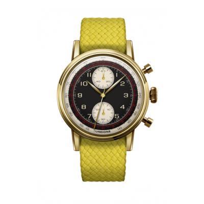 UNDONE URBAN NAVI 2.0 腕時計 【ゴールド PVD コーティング パーロンベルト イエロー】