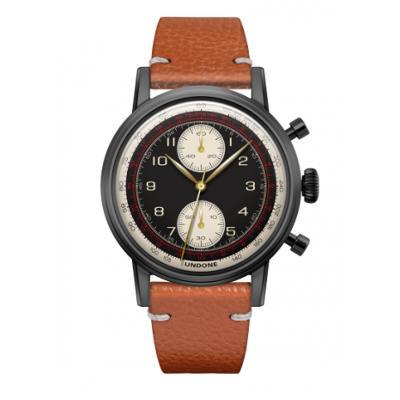 UNDONE URBAN NAVI 2.0 腕時計 【Black PVD coating キャビアベルト ブラウン】