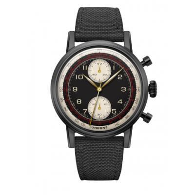 UNDONE URBAN NAVI 2.0 腕時計 【Black PVD coating コーデュラベルト ブラック】