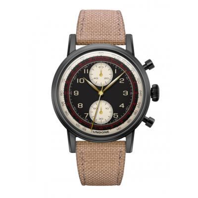 UNDONE URBAN NAVI 2.0 腕時計 【Black PVD coating コーデュラベルト サンド】