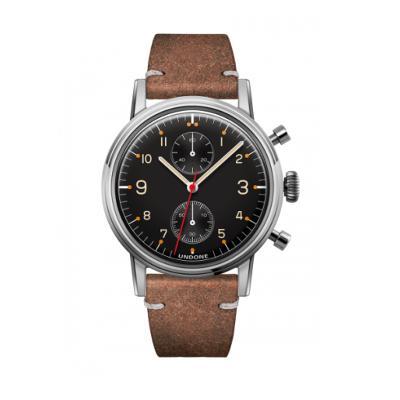 UNDONE Portu メカクォーツ腕時計 【ステンレス カーフレザーベルト ヴィンテージブラウン】