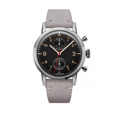 UNDONE Portu メカクォーツ腕時計 【ステンレス カーフレザーベルト ライトグレー】